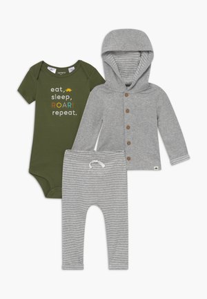 BABY SET - Strickjacke - mottled grey