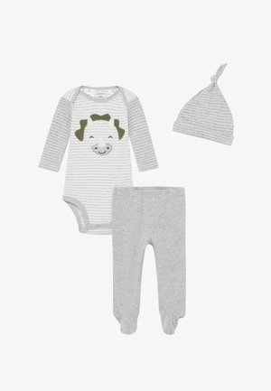 BABY SET  - Legíny - heather