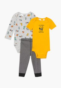 Carter's - SET - Pantaloni - yellow/mottled grey - 0