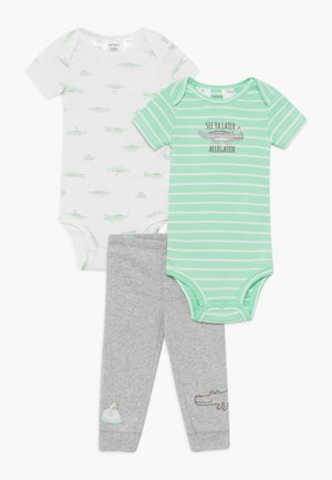 GATOR 2 PACK SET - Stoffhose - green/mottled grey