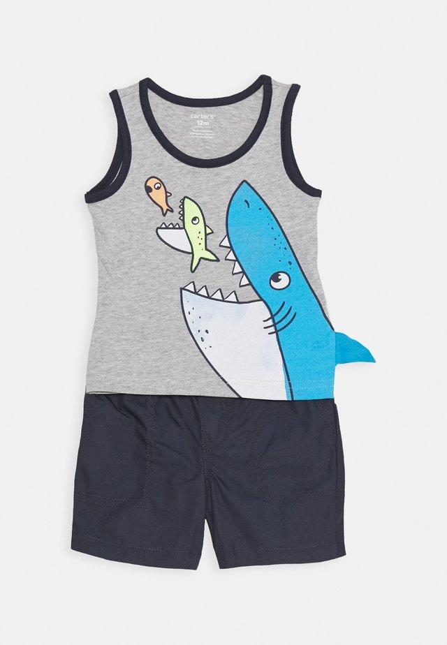 SHARK 3D SET - Shortsit - multi-coloured