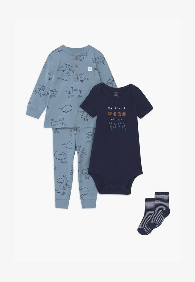 SET - Pantalones - blue