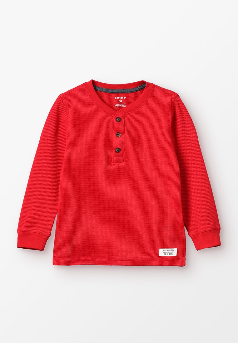 Carter's - TODDLER HENLEY THERMAL - Long sleeved top - red