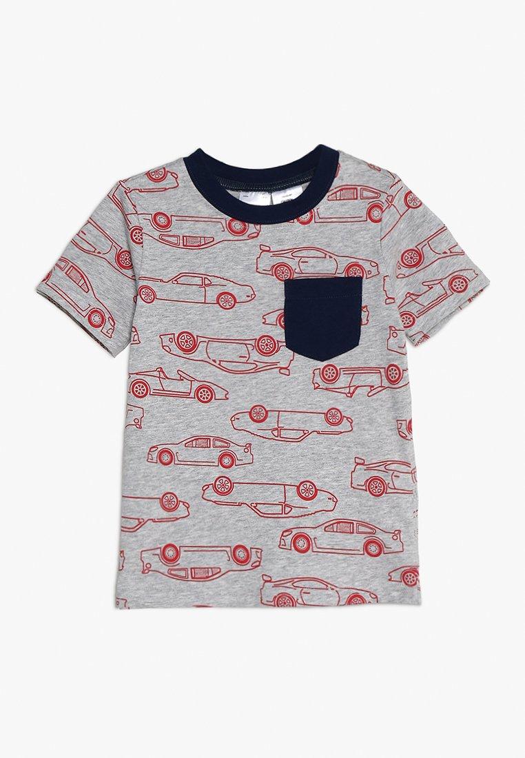 Carter's - TODDLER CAR PRINT POCKET TEE - T-shirt print - mottled grey