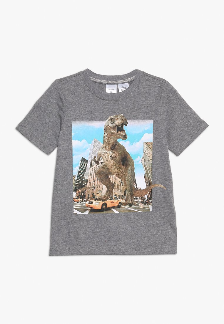 Carter's - KIDS DINO IN THE CITY TEE - T-shirts print - heather