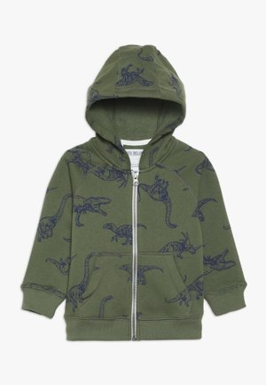 TODDLER HOODIE - Huvtröja med dragkedja - dark green