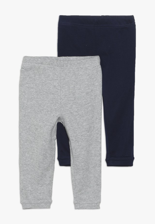 BOY BABY 2 PACK - Leggings - Trousers - navy/grey