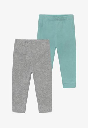 NEUTRAL BABY 2 PACK - Kangashousut - mottled grey/turquoise