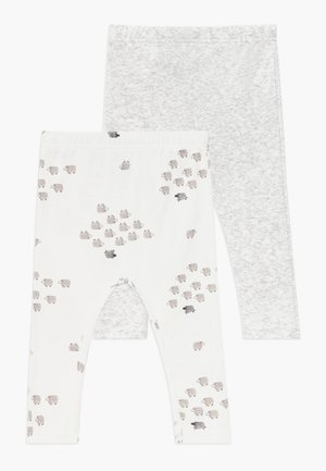 NEUTRAL BABY 2 PACK - Leggings - Trousers - gray