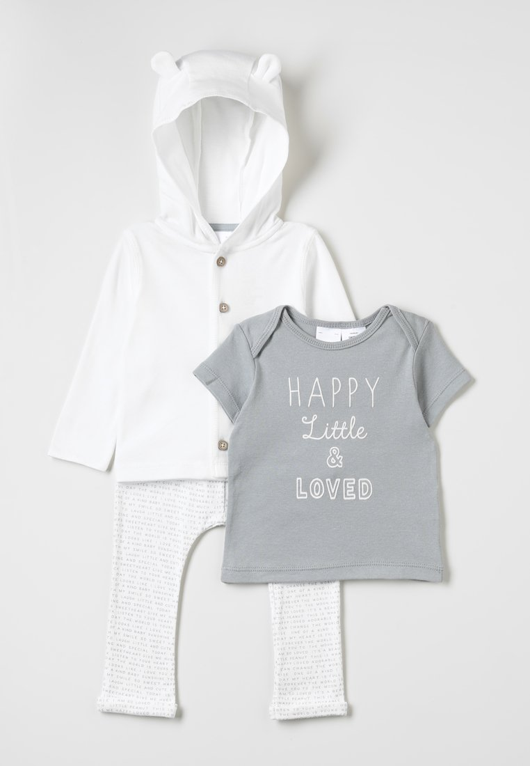 Carter's - SET NEUTRAL HAPPY LITTLE LOVED - Cardigan - white/grey