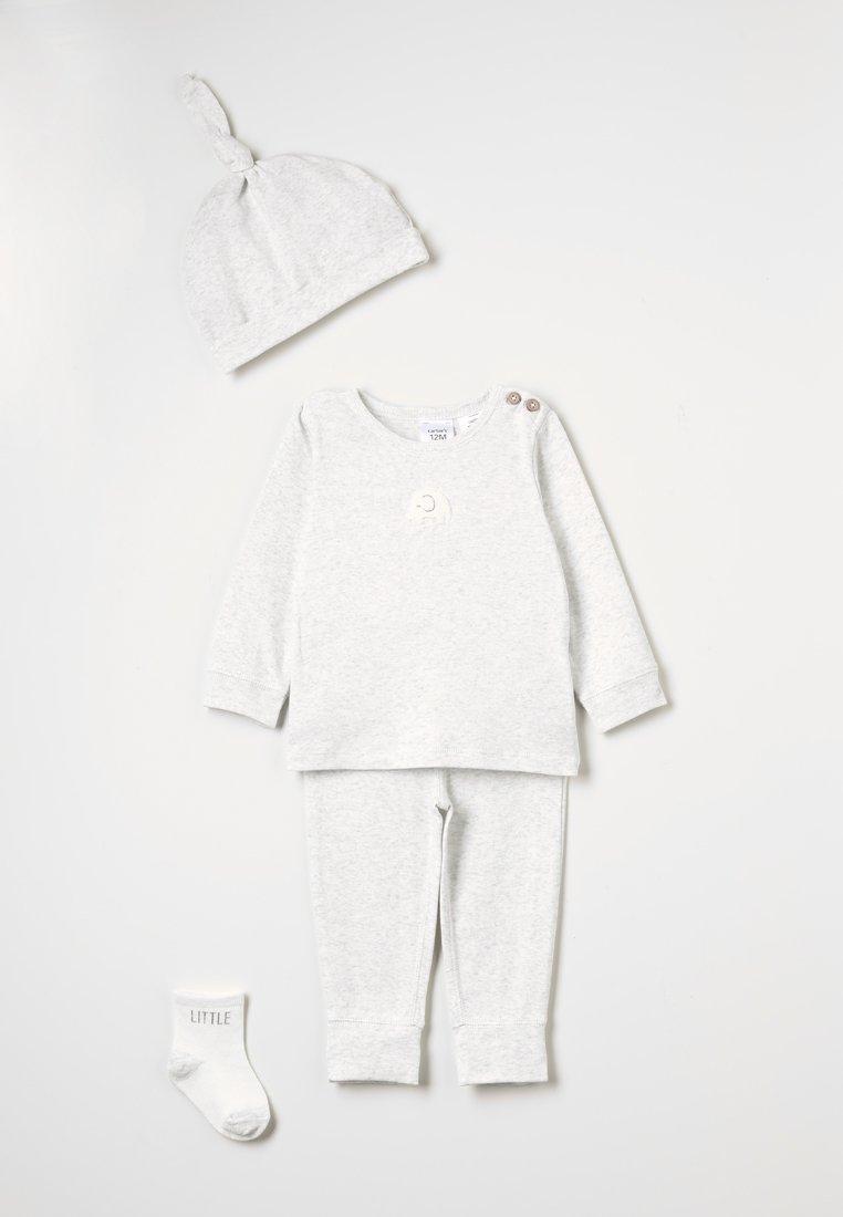 Carter's - SET NEUTRAL GREY ELEPHANT - Bonnet - heather grey