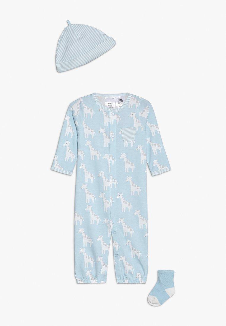 Carter's - BABY LAYETTE BOY GIRAFFE SET - Overal - blue