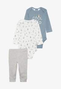 Carter's - WASHCLOTH BOY BABY SET - Broek - grey/blue - 5