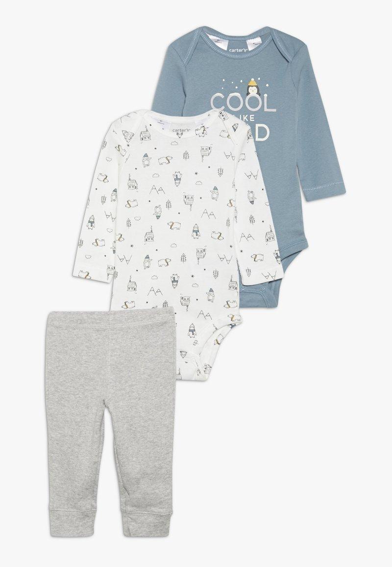 Carter's - WASHCLOTH BOY BABY SET - Broek - grey/blue