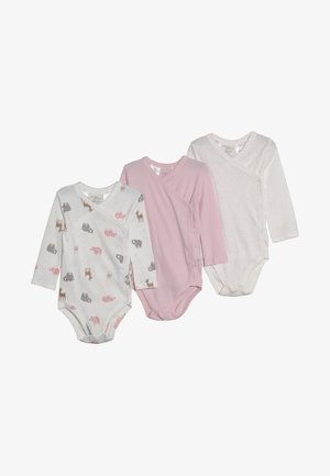 GIRL SIDE SNAP BABY 3 PACK - Body - light pink
