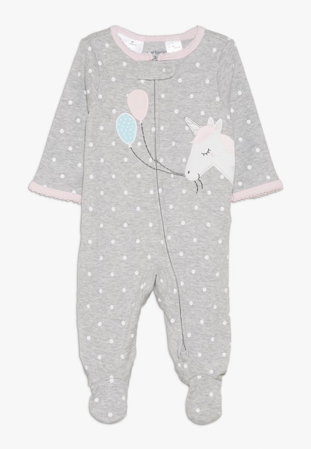 INTERLOCK UNICORN BABY - Pyjama - grey