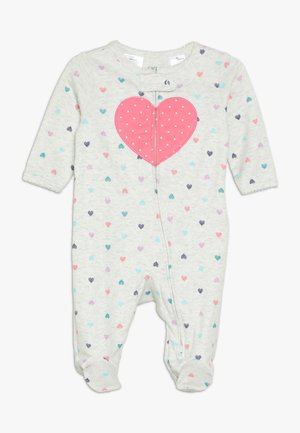 INTERLOCK HEART BABY - Pyjama - light grey melange
