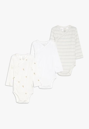 NEUT SIDE SNAP BABY 3 PACK - Body - white