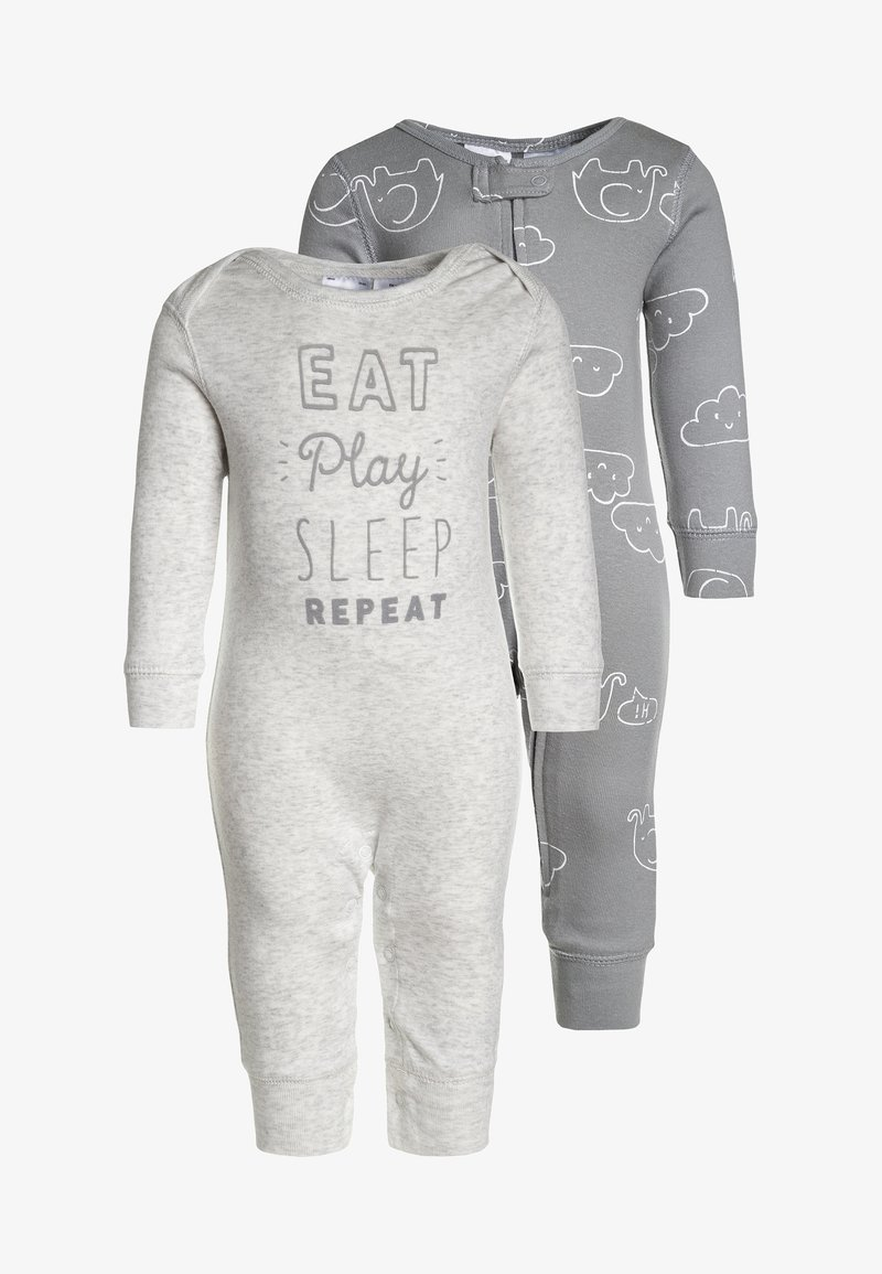 Carter's - CORE COVERALL NEUTRAL EAT PLAY SLEEP 2 PACK - Pyjama - heather grey