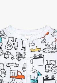 Carter's - BABY INTERLOCK TRUCKS - Pyjamas - white - 5