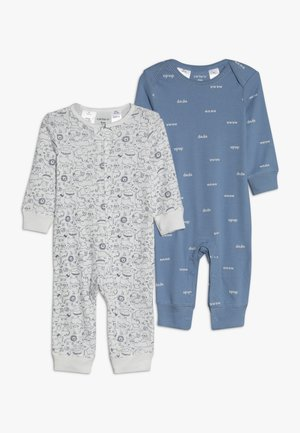 COVERALL BABY 2 PACK - Pyjama - blue