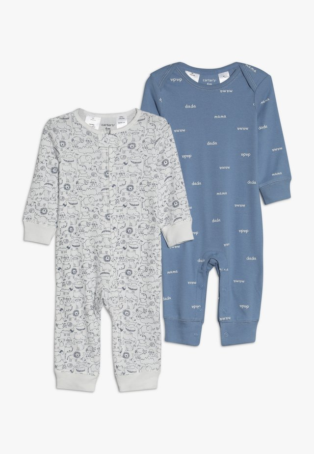 COVERALL BABY 2 PACK - Pyžamo - blue