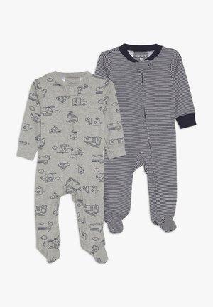 BABY 2 PACK - Pyjamas - grey/blue