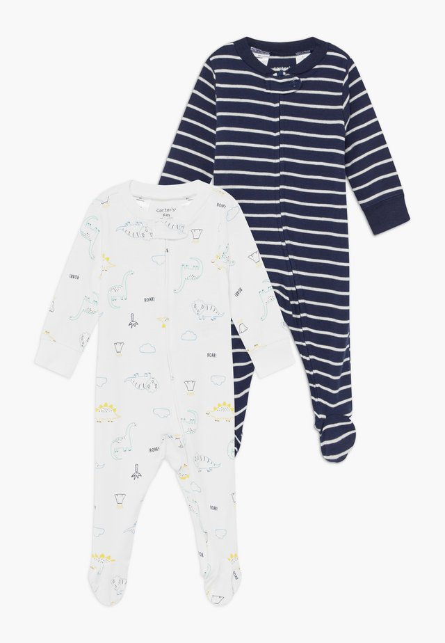 2 PACK - Pyjama - white/dark blue