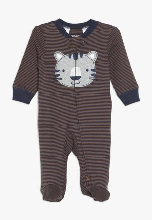 INTERLOCK TIGER BABY - Pyjamas - dark blue/brown