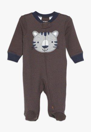 INTERLOCK TIGER BABY - Pigiama - dark blue/brown