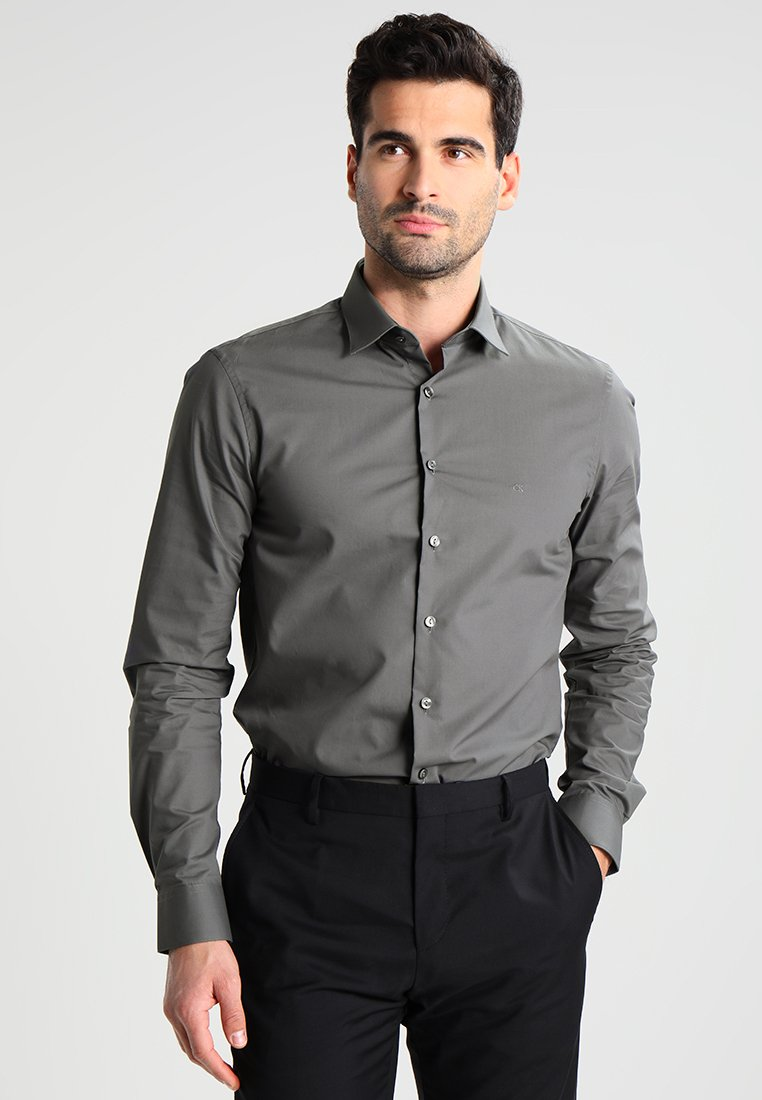 Klein FitChemise Grey Classique Bari Calvin Tailored Slim L5ARjcq3S4