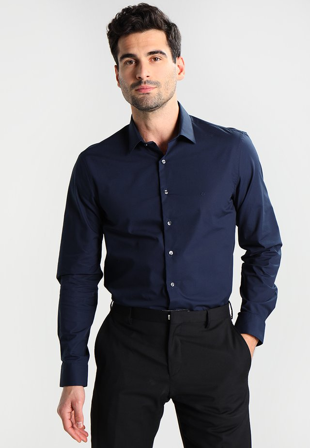 BARI SLIM FIT - Finskjorte - blue