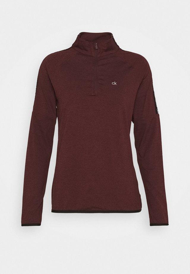 KAHN ZIP NECK - Langærmede T-shirts - blackberry