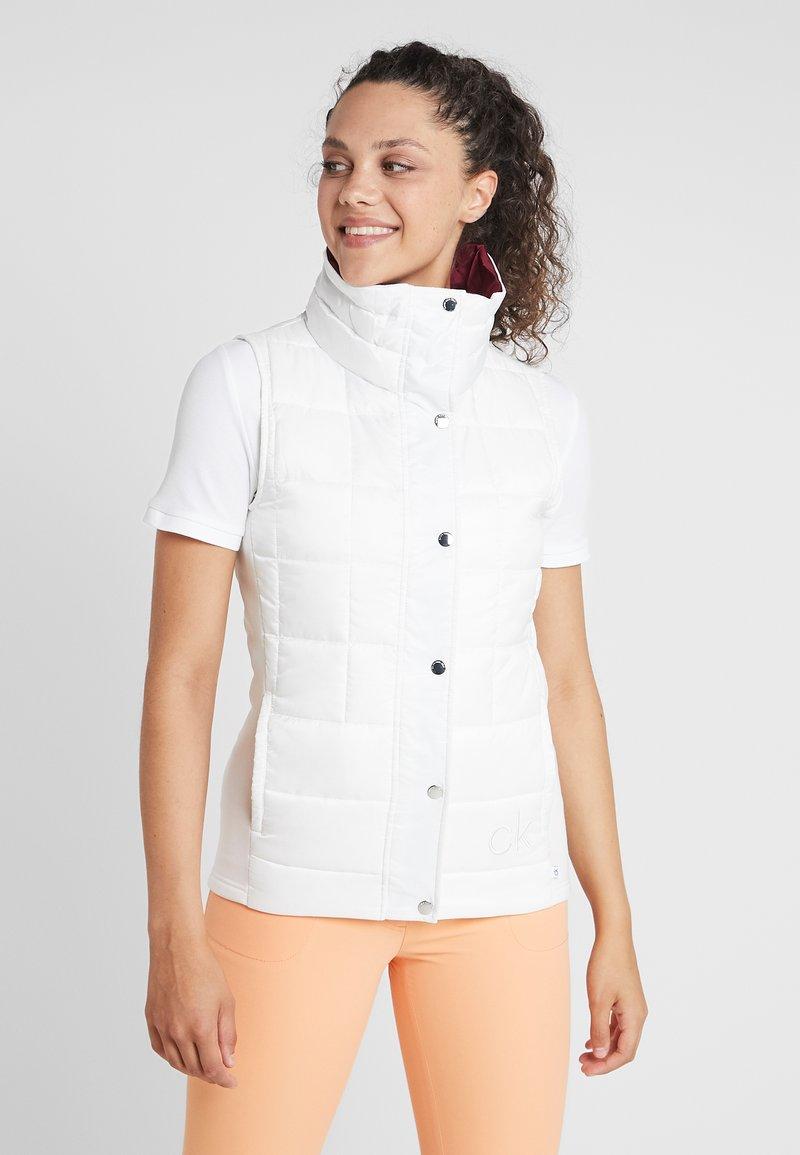 Calvin Klein Golf - GILET - Veste sans manches - white