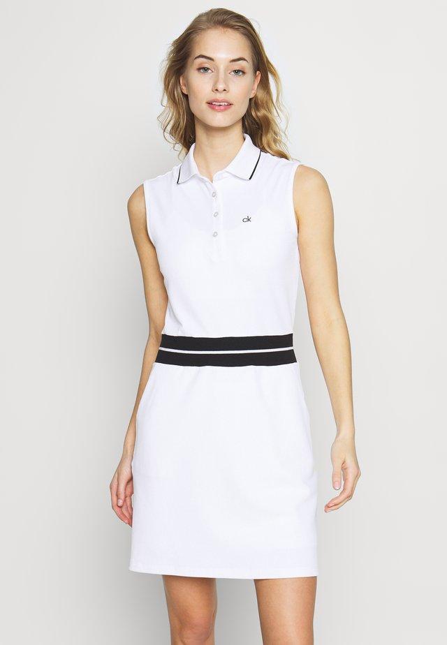 ZULU DRESS - Urheilumekko - white/black
