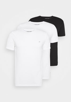 HARLEM TECH 3 PACK - Basic T-shirt - white/black