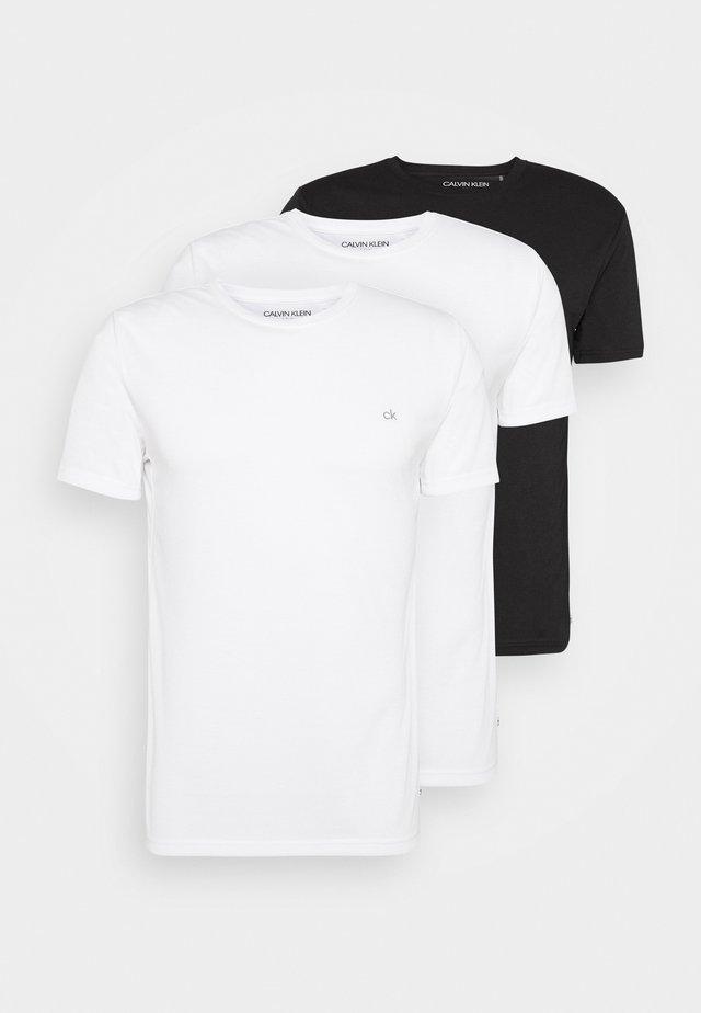 HARLEM TECH 3 PACK - Jednoduché triko - white/black