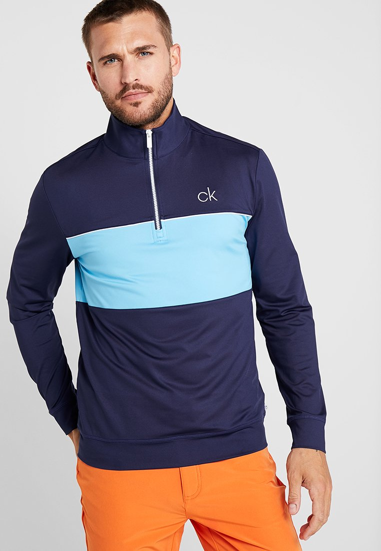 Calvin Klein Golf - SOAR HALF ZIP - Langarmshirt - navy/skyblue