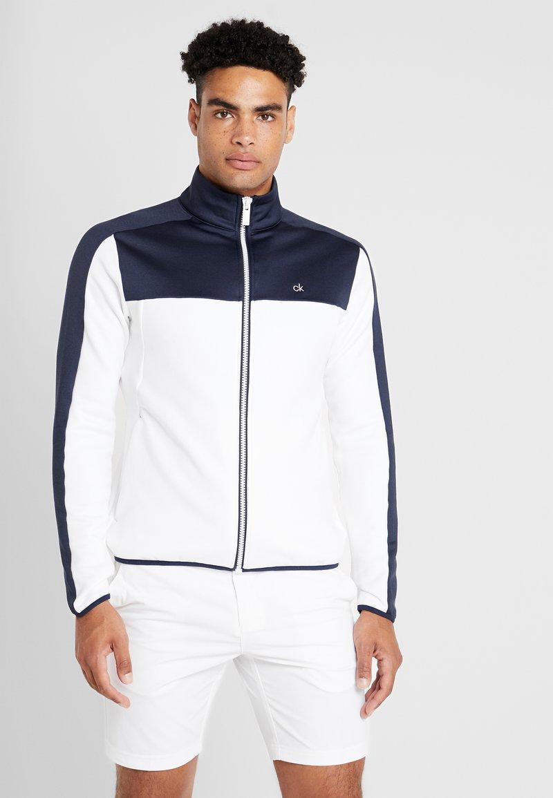 Calvin Klein Golf - FULL ZIP - Sweatshirt - white/navy