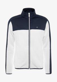 Calvin Klein Golf - FULL ZIP - Sweatshirt - white/navy - 4