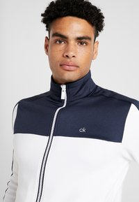 Calvin Klein Golf - FULL ZIP - Sweatshirt - white/navy - 5