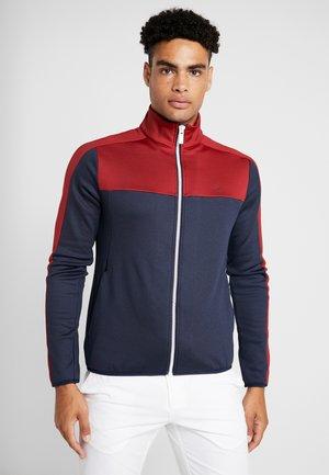 FULL ZIP - Sweatshirt - navy/red