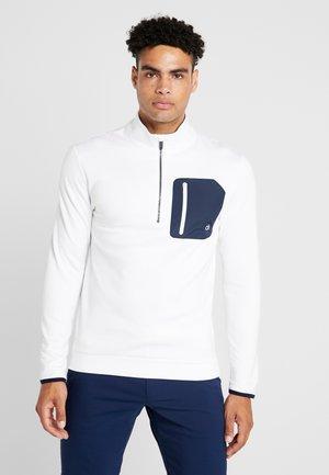 VOYAGE HALF ZIP - Sweatshirts - white