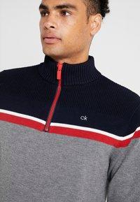 Calvin Klein Golf - COMPASS LINED  - Svetr - greymarl/navy - 4