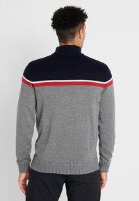 Calvin Klein Golf - COMPASS LINED  - Svetr - greymarl/navy - 2