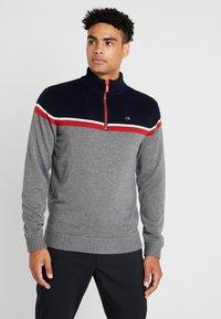 Calvin Klein Golf - COMPASS LINED  - Svetr - greymarl/navy - 0