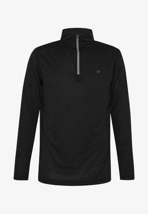 HARLEM TECH 1/4 ZIP - Langærmede T-shirts - black