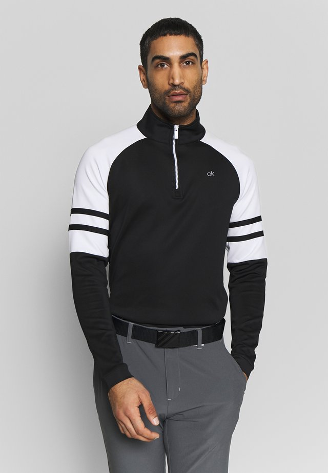 STRATA FLEX HALF ZIP - T-shirt à manches longues - black/white