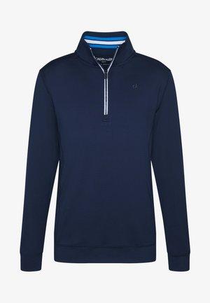 ORBIT HALF ZIP - T-shirt à manches longues - navy blue