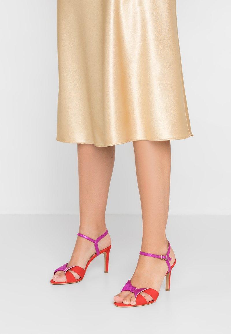 Cosmoparis - JOLI - High heeled sandals - orange/fuchsia